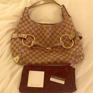 Authentic Gucci Horsebit hobo bag